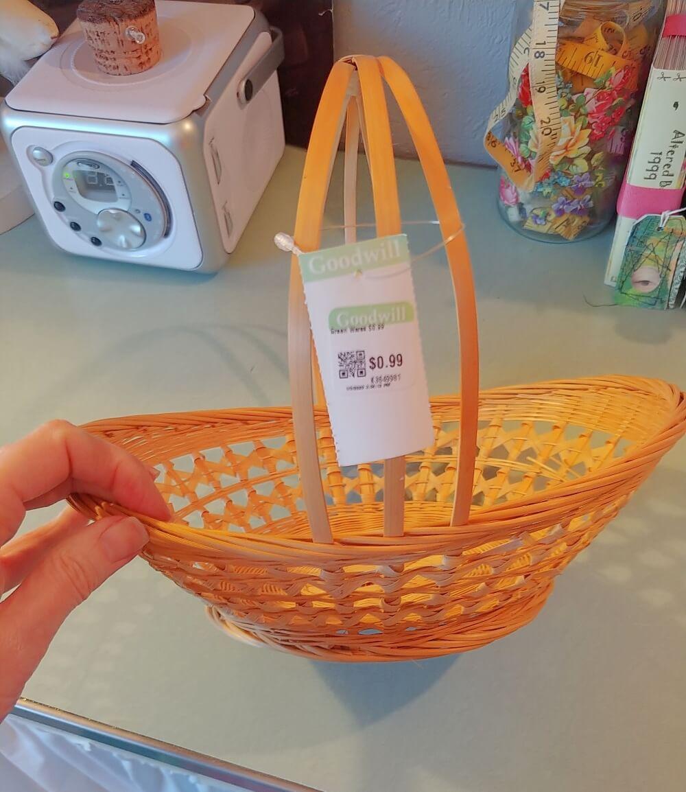 Upcycled Boho Basket