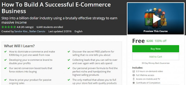 [100% Off] How To Build A Successful E-Commerce Business| Worth 200$