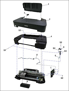 Whole replacement the ink absorber kit for Canon Pixma iP2700, iP2702, iP2770, iP2772, iP2780