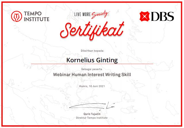 Sertfikat Writing Skills