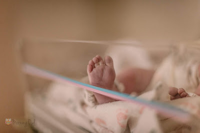 Newborns Foot - Morning Owl Fine Art Birth Photography San Diego