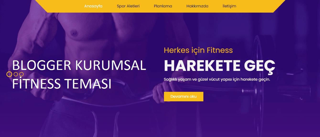 Blogger Kurumsal Fitness spor teması