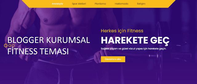 Blogger Kurumsal Fitness Spor Teması - Seo & Responsive Ücretli Tema