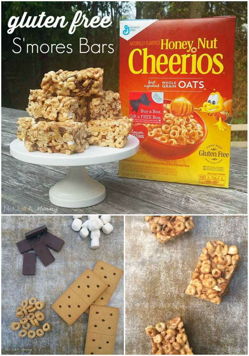 Have gluten allergies? Now you can make gluten free s'mores bars with Cheerios