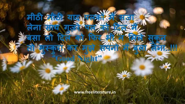 Good Night Shayari, quotes, images, msg