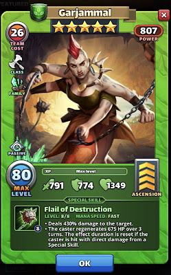 Garjammal Hero Card Empires & Puzzles
