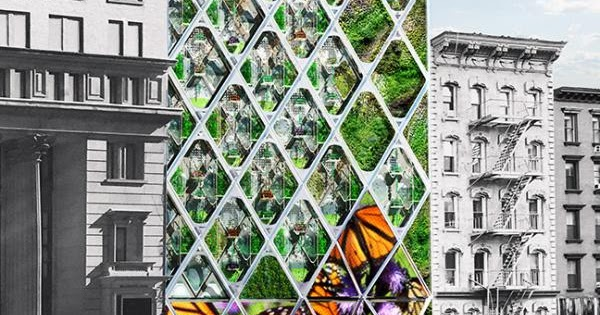 Edifício Santuário para salvar as borboletas monarcas americanas