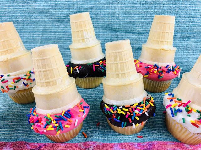 melting ice cream cone cupcake recipe