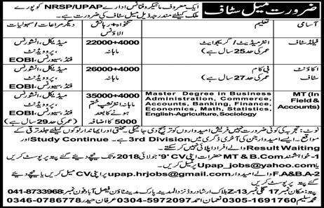Jobs In NRSP Microfinance Bank Limited June 2018 for Account Staff and others