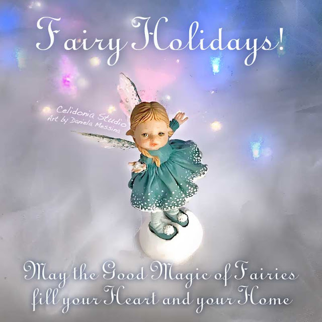 Little Fairy sculpted from Polymer Clay