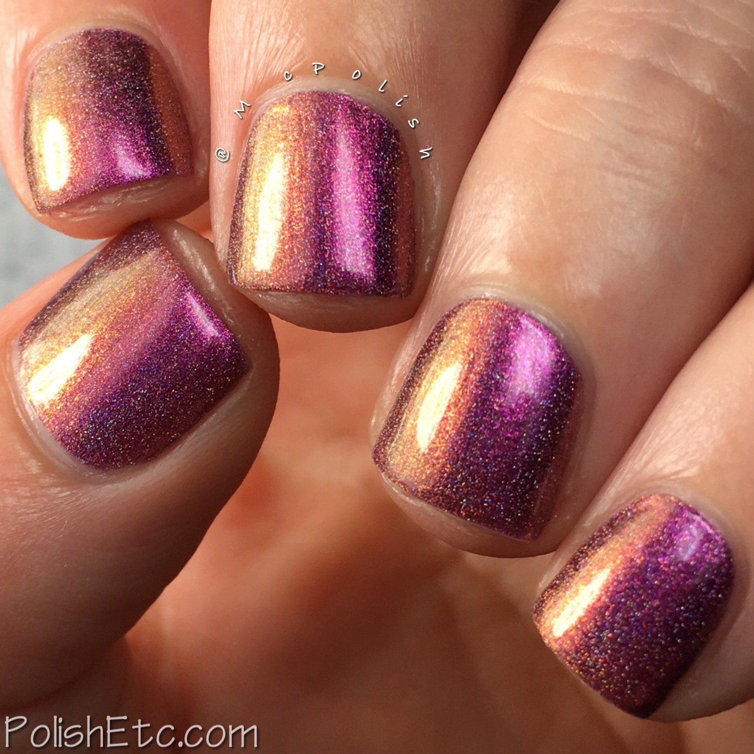 Top Shelf Lacquer - Cocktail Fun Holo'd Collection - McPolish - Now What Me Sip...My Chardon Nay Nay (Holo'd)