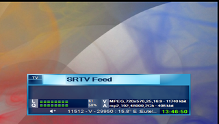 SRTV Feed Biss Key on Eurobird 16A (16.0°E)