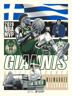 Milwaukee Bucks Giannis Antetokounmpo Birthday Celebration Screen Print by M. Fitz x Phenom Gallery