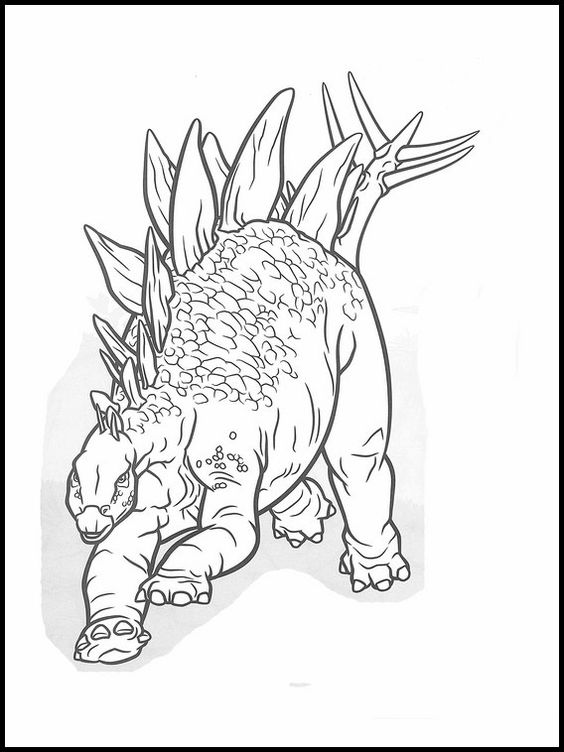 Dinosaurs coloring pages 17