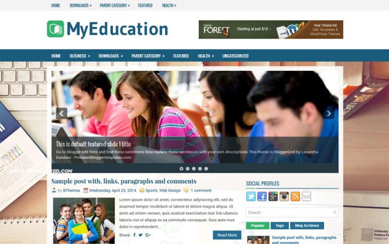 Educational Blogger Templates