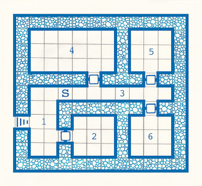 old school dungeon map