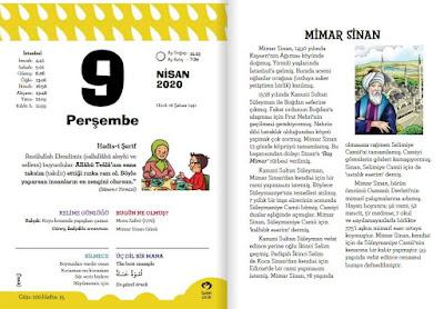 Fazilet Çocuk Takvimi 9 Nisan