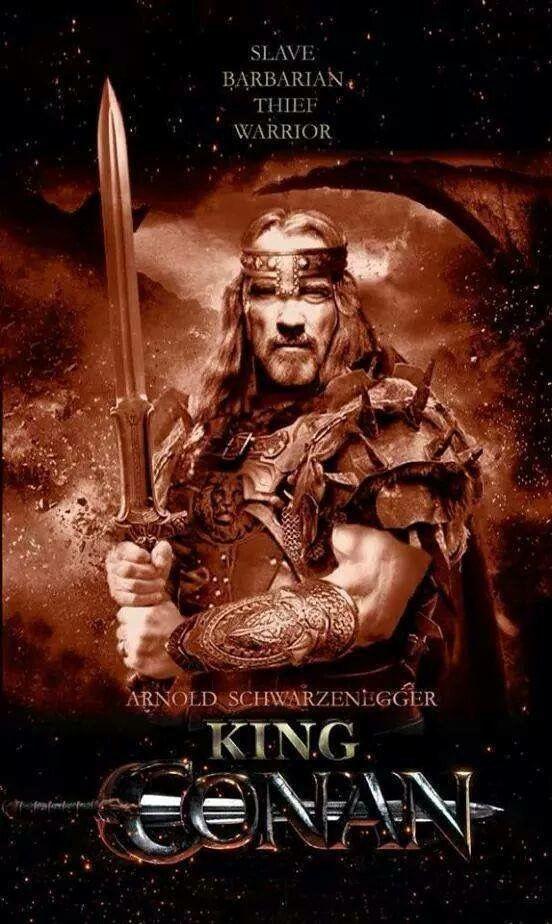 Conan Finalmente Rei - Conan o Bárbaro Rei com Arnold Schwarzenegger