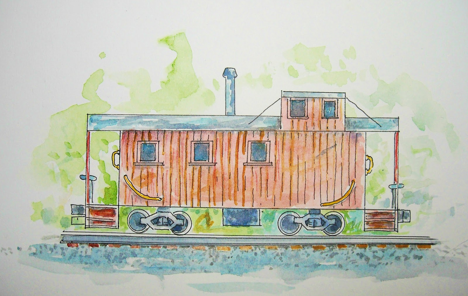How To Draw Worksheets For The Young Artist How To Draw A Train Caboose Worksheet And Lesson