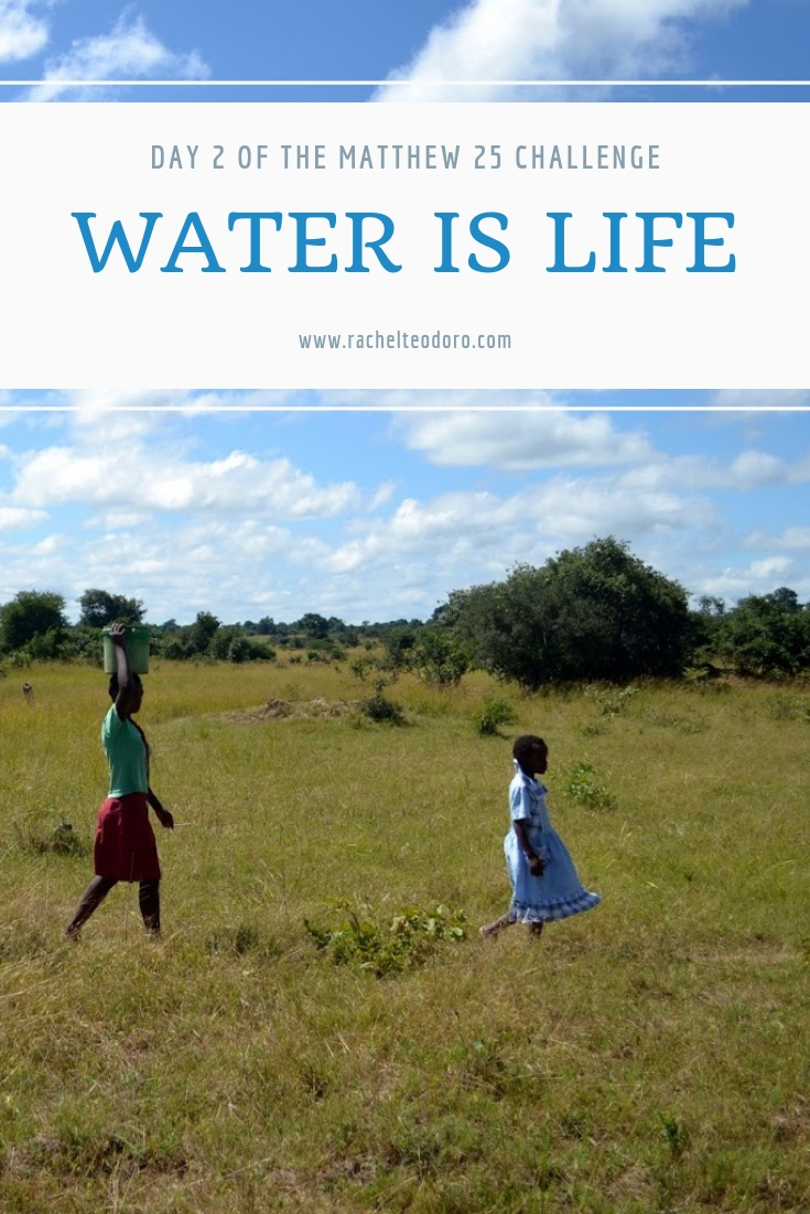 girls walking for water in africa