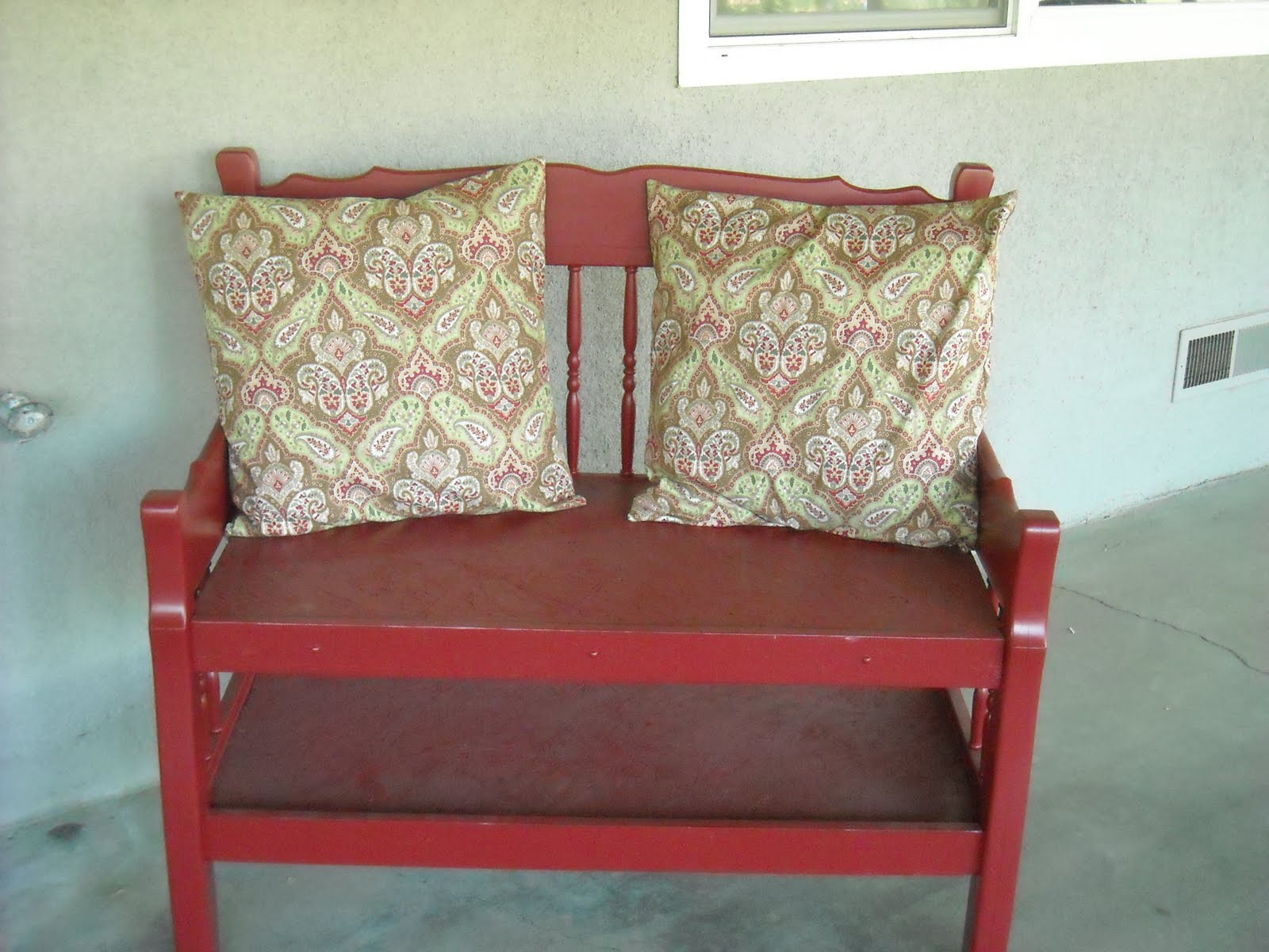 Love Our Simple Life Twin Bed Becomes An Outdoor Bench