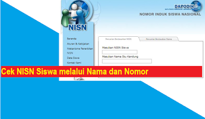 Cara Cek NISN Siswa melalui Nama dan Nomor