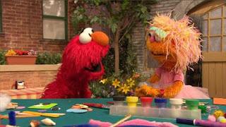 Zoe, Rocco, Elmo, Sesame Street Episode 4322 Rocco's Playdate season 43
