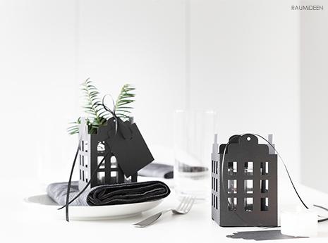 Weihnachtsdeko - Kerzen-Häuser selbst gemacht (mit Druckvorlage)