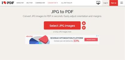 Cara mengubah File JPG ke dalam Format PDF secara Online