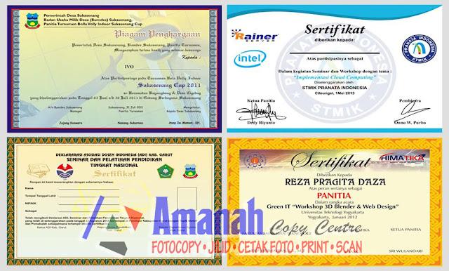 jasa cetak sertfikat