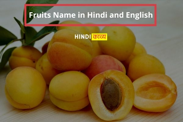 80+ Fruits name with picture in english and hindi - Benefits of Fruits in hindi