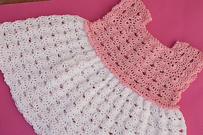 4 - Crochet Imagen Falda a crochet y ganchillo canesú rosa por Majovel Crochet