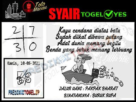 Syair Togel Yes Macau Kamis