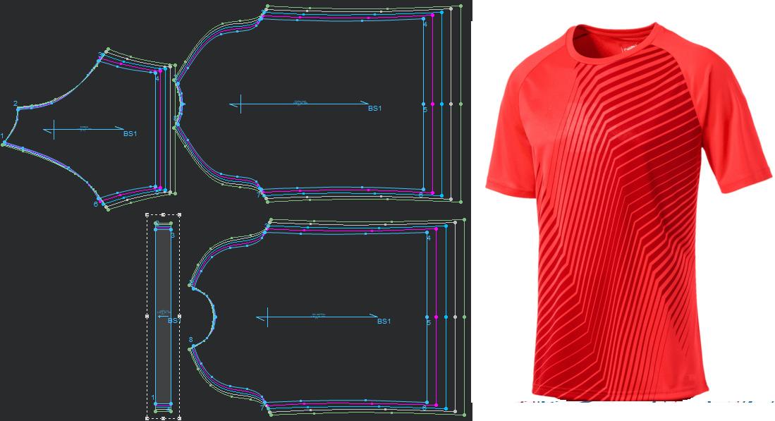 92bc40674 Moldes patrones camiseta básico manga rangla de fútbol - hacer prendas  deportivos