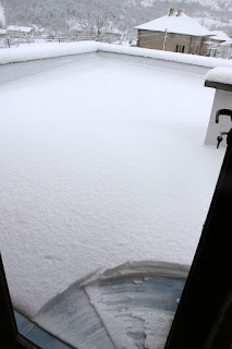 More snow to clear on the roof terrace