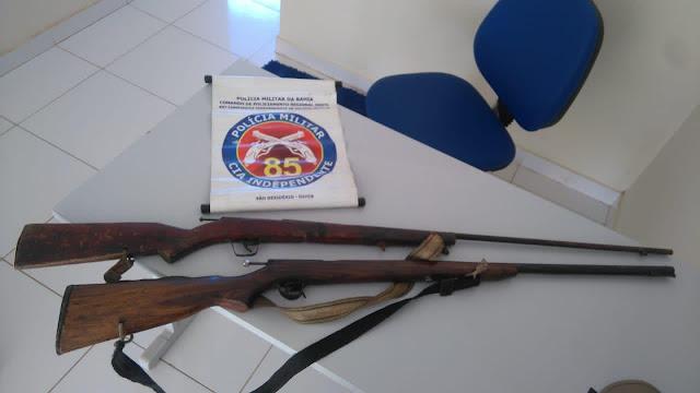 Guarnição da 85ª CIPM prende indivíduo por posse ilegal de arma de fogo e agressão em São Desidério