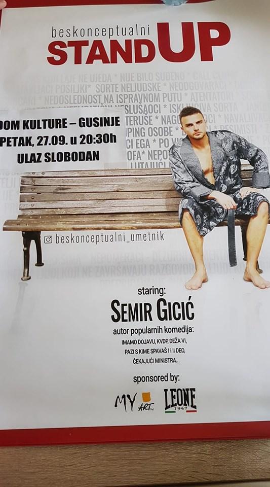 Gusinje: Glumac i komičar Semir Gicić sjutra u Centru za kulturu