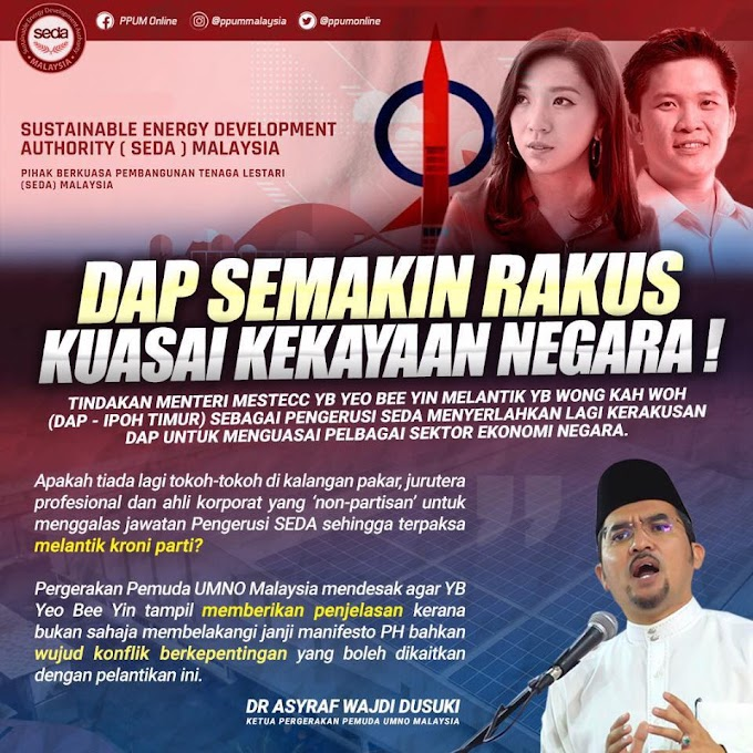Agenda Sulit DAP Lantik Orang Sendiri Nak Kaut Kekayaan Negara