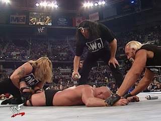 WWE / WWF No Way Out 2002 - The New World Order attack Steve Austin