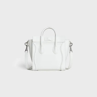 Celine Nano Luggage Bag in Drummed with Leather handles