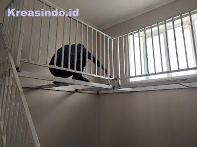 Mezzanine Besi pesanan Bu Roro di Cilebut Bogor