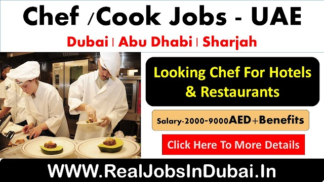 Chef/Cook Jobs In Dubai - UAE 2020