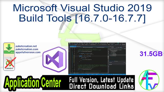Microsoft Visual Studio 2019 Build Tools [16.7.0-16.7.7]