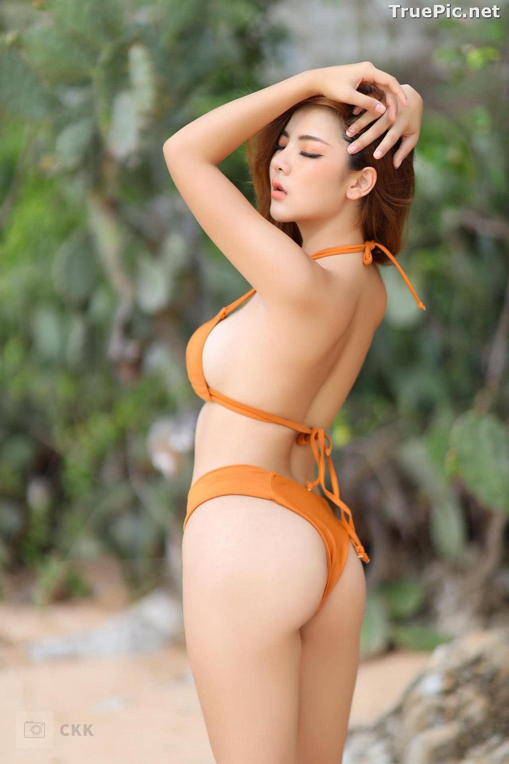 Image Thailand Model - Montakan Kaengraeng - Sexy Orange Bikini - TruePic.net - Picture-9