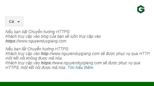 Chuyển hướng lưu lượng truy cập HTTP sang HTTPS