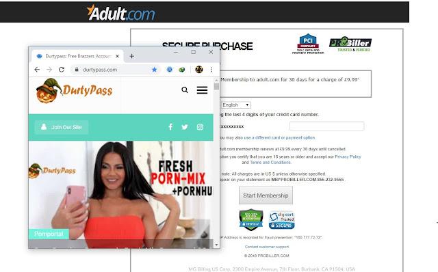 Proof of Login Adult.com Account