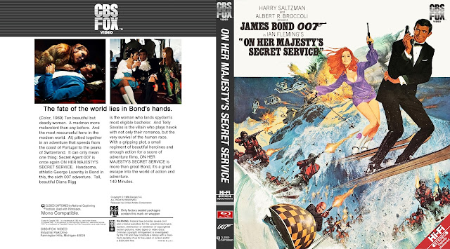 On Her Majesty's Secret Service Bluray Cover