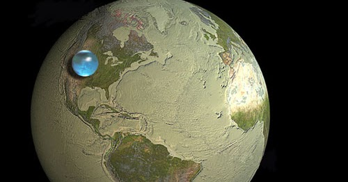 Wassermenge Erde