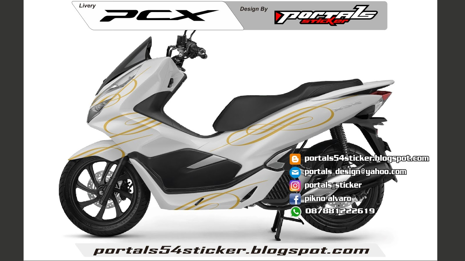 Cutting sticker honda pcx decal pcx 2018 design sticker pcx