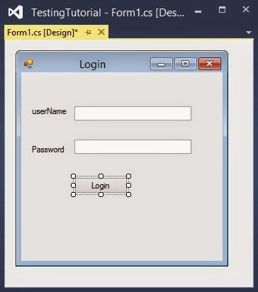 login control in windows form